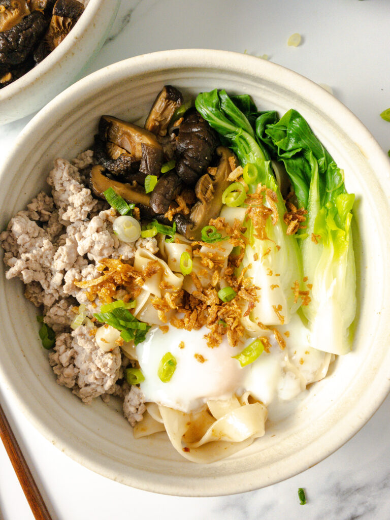 Singapore-Inspired Minced Meat Noodles - Ingredients