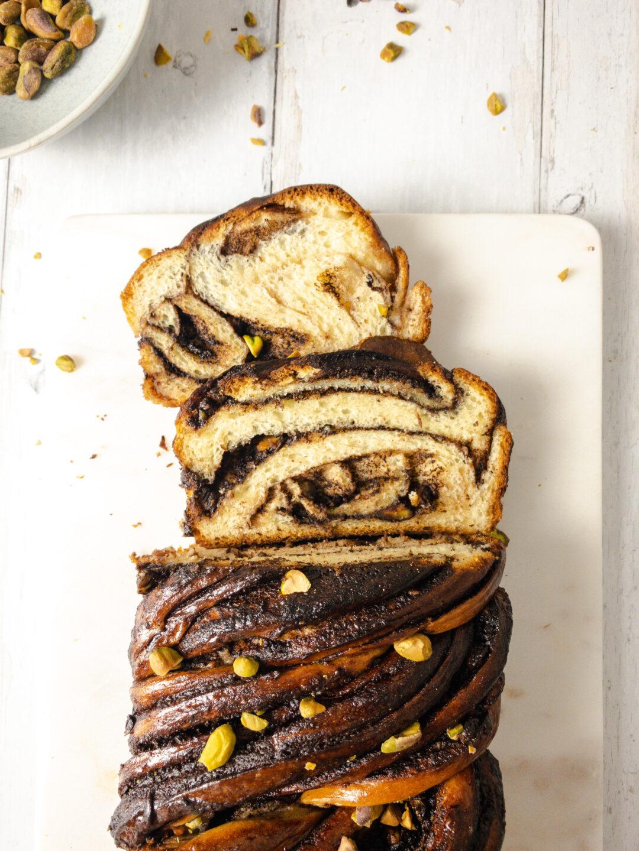 Chocolate and Pistachio Babka Recipe