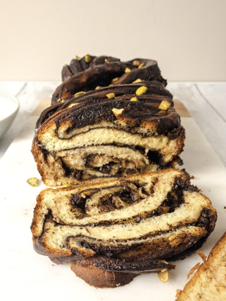 Chocolate and Pistachio Babka Recipe