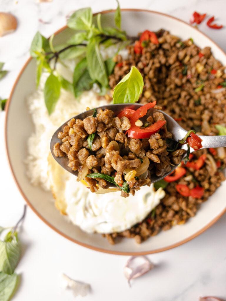 Thai Basil Stir Fry (Pad Kraopow) Recipe