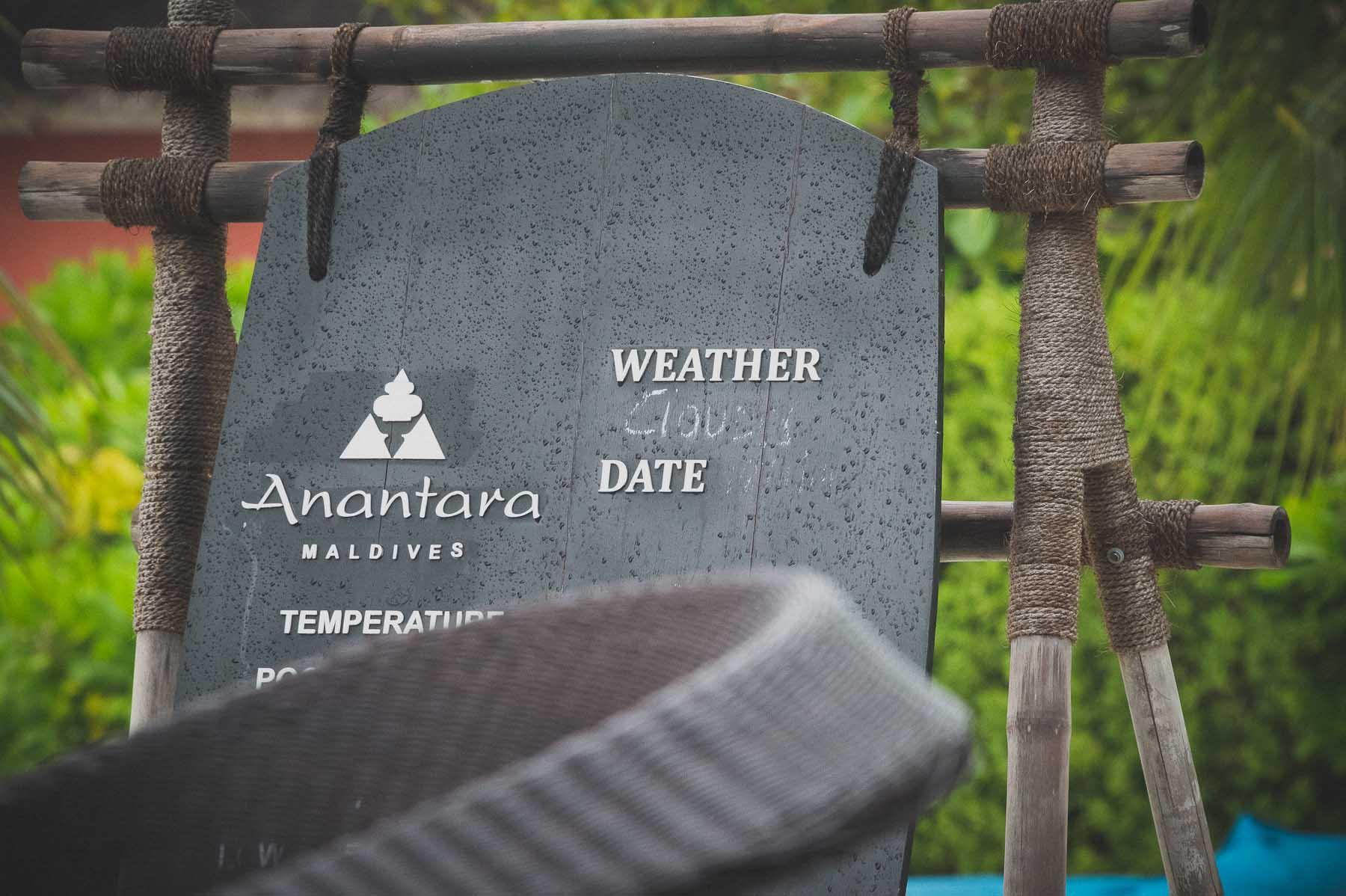 Anantara Maldives Weather report