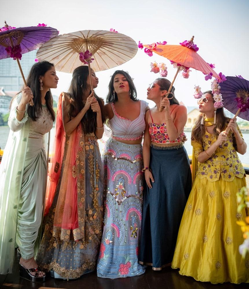 bridal party destination wedding