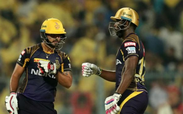 Andre Russell and Nitish Rana