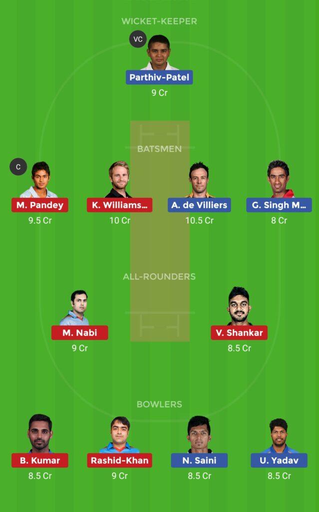 Grand League Team RCB vs SRH