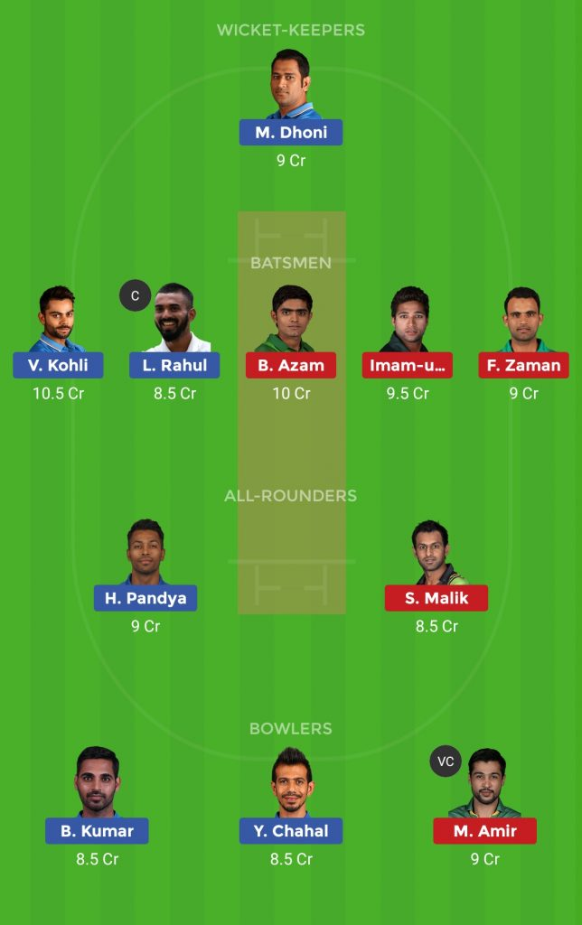 Grand League Team India vs Pakistan