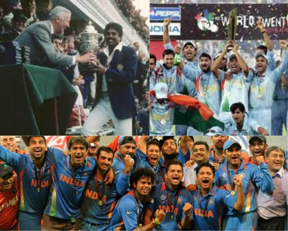 India winning 3 World Cups