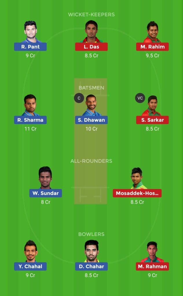 Grand League Team India vs Bangladesh 1st T20I
