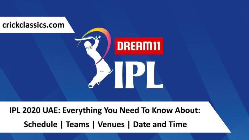 IPL 2020 Crickclassics