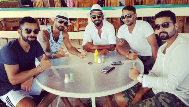 Team India in a Hotel