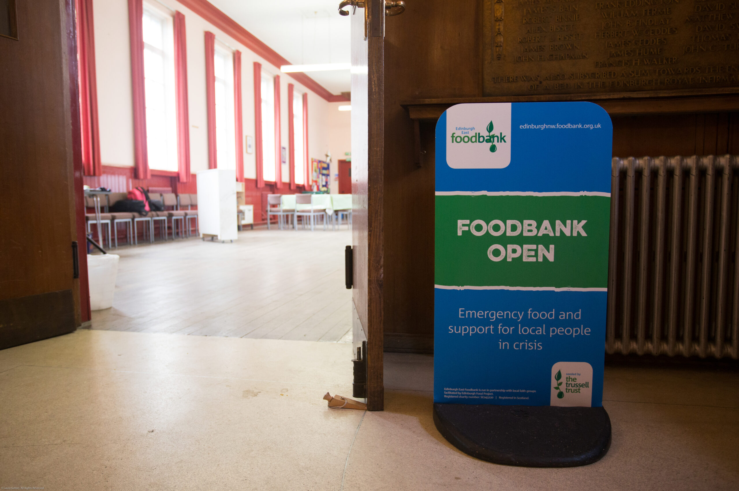 Environmental shot of foodbank collection point