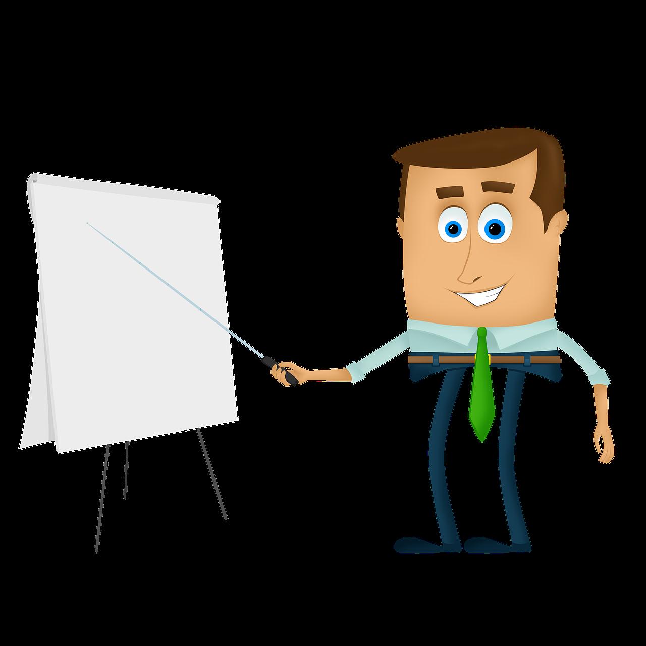businessman, cartoons, training