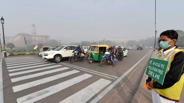 Traffic During Odd-even rule in Delhi