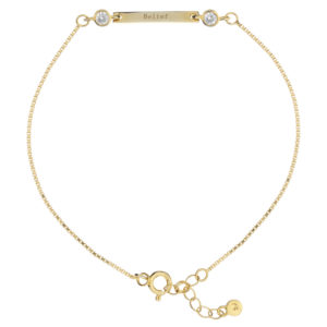 Synergy Sister Friendship Bracelet in Rose Gold with Belief message