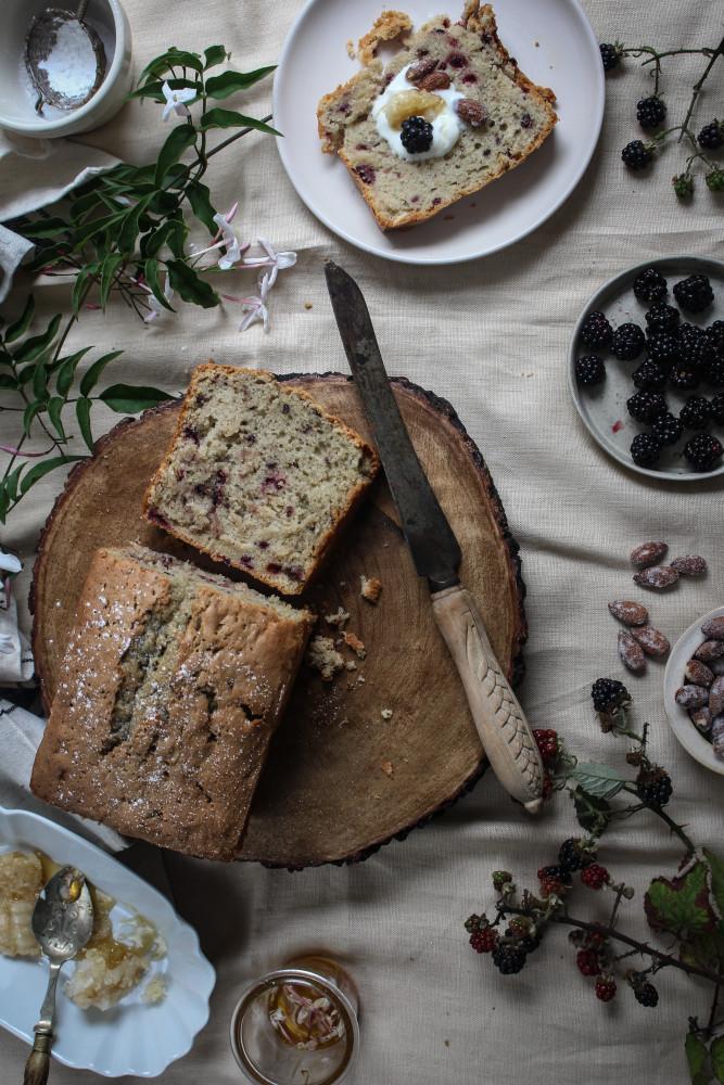 blackberry almnd cake with jasmin honey-1-20