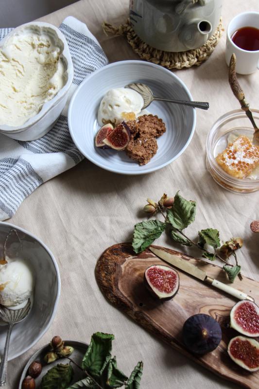 buckwheat hazelnut cakes ricotta icecream -1-11