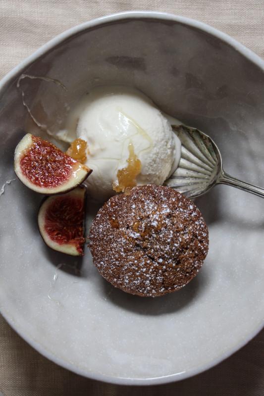 buckwheat hazelnut cakes ricotta icecream -1-13
