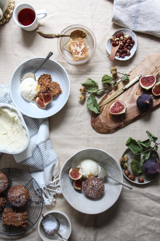 buckwheat hazelnut cakes ricotta icecream -1-6