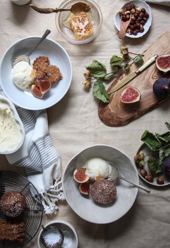 buckwheat hazelnut cakes ricotta icecream -1-7