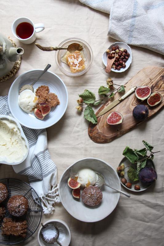 buckwheat hazelnut cakes ricotta icecream -1-8