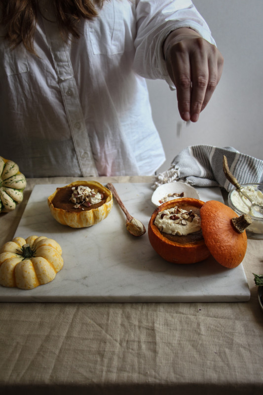 pumpkin pies baked inside squashes-1-28