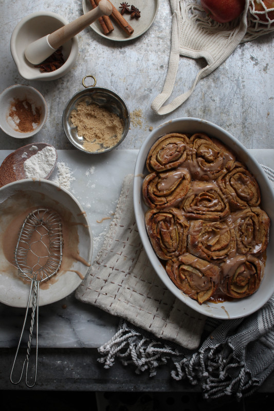 bonfire night spiced apple parkin rolls-1-22