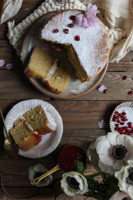 lemon pomegranate hibiscus curd filled cake-1-22