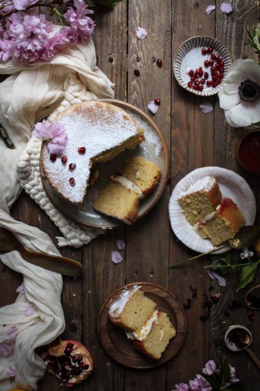 lemon pomegranate hibiscus curd filled cake-1-27-1cc