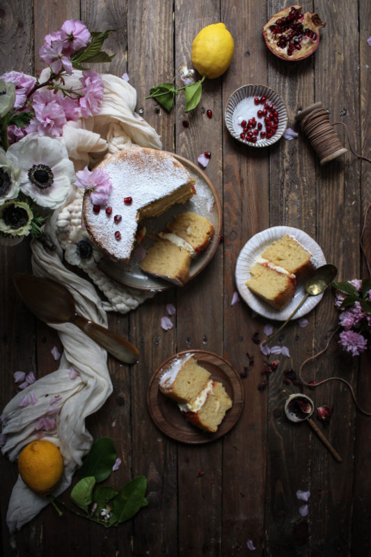 lemon pomegranate hibiscus curd filled cake-1-3-1