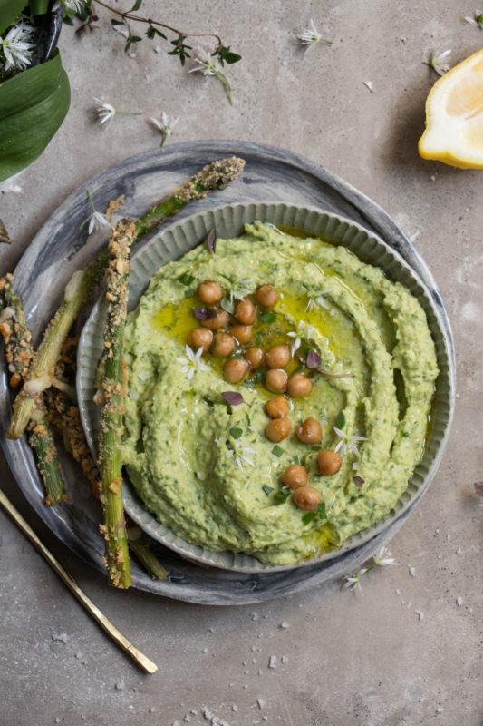 wild garlic asparagus hummus-1-12