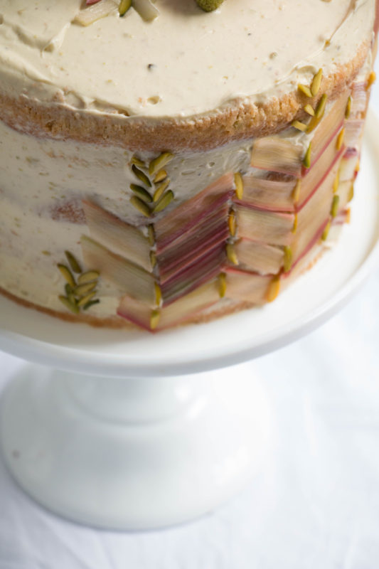 rhubarb strawberry and pistachio cake-1-9