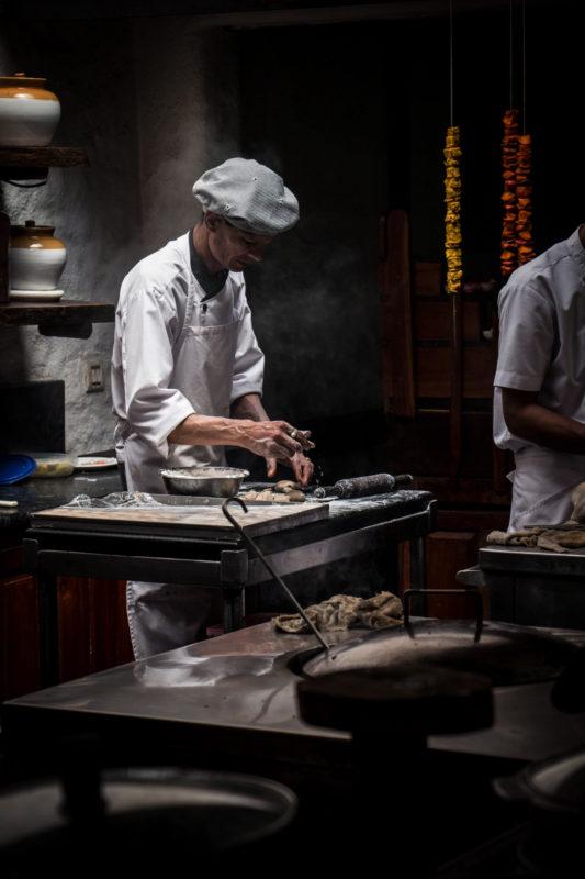 cooking roti