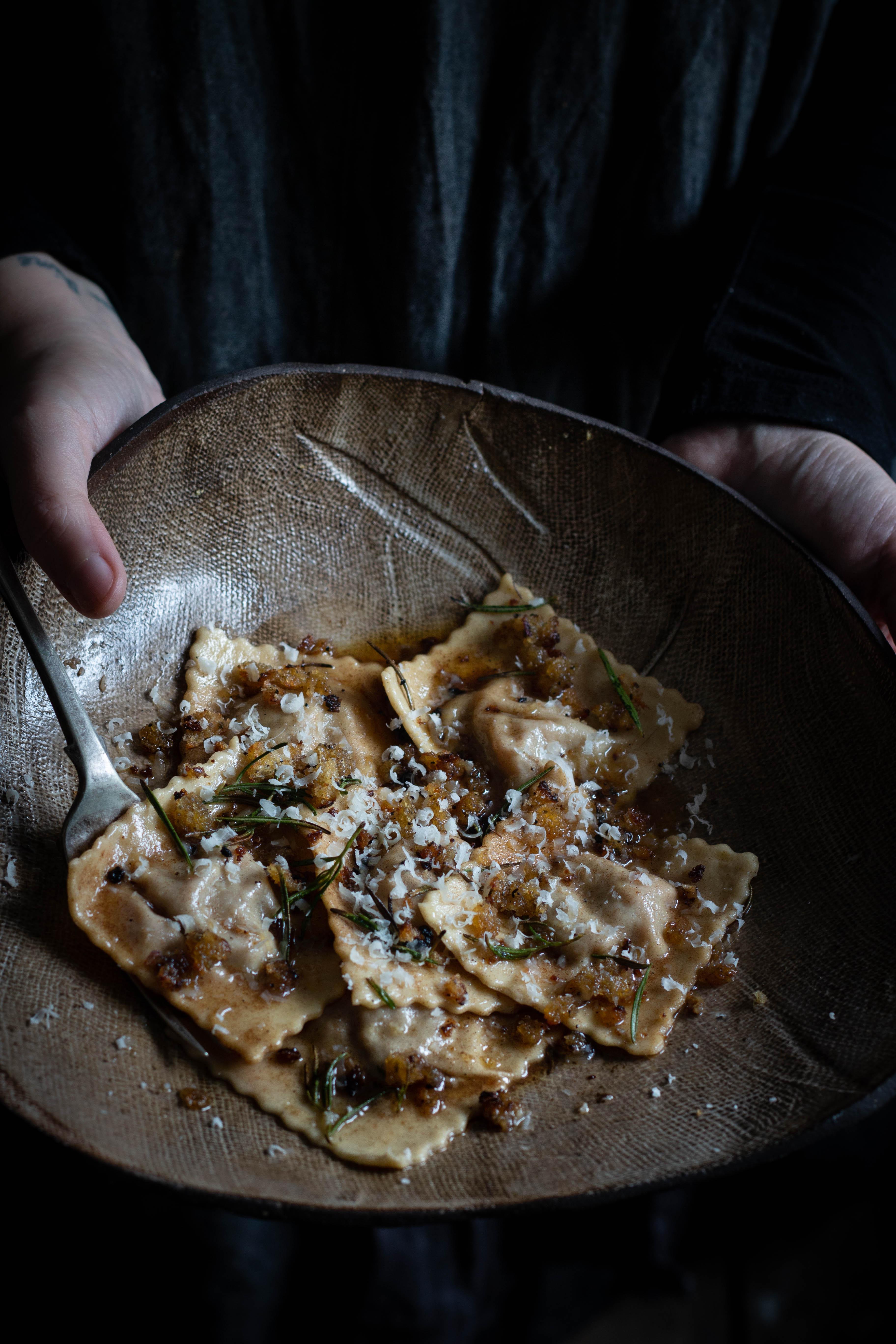 Braised lamb ravioli and wine pairing suggestions