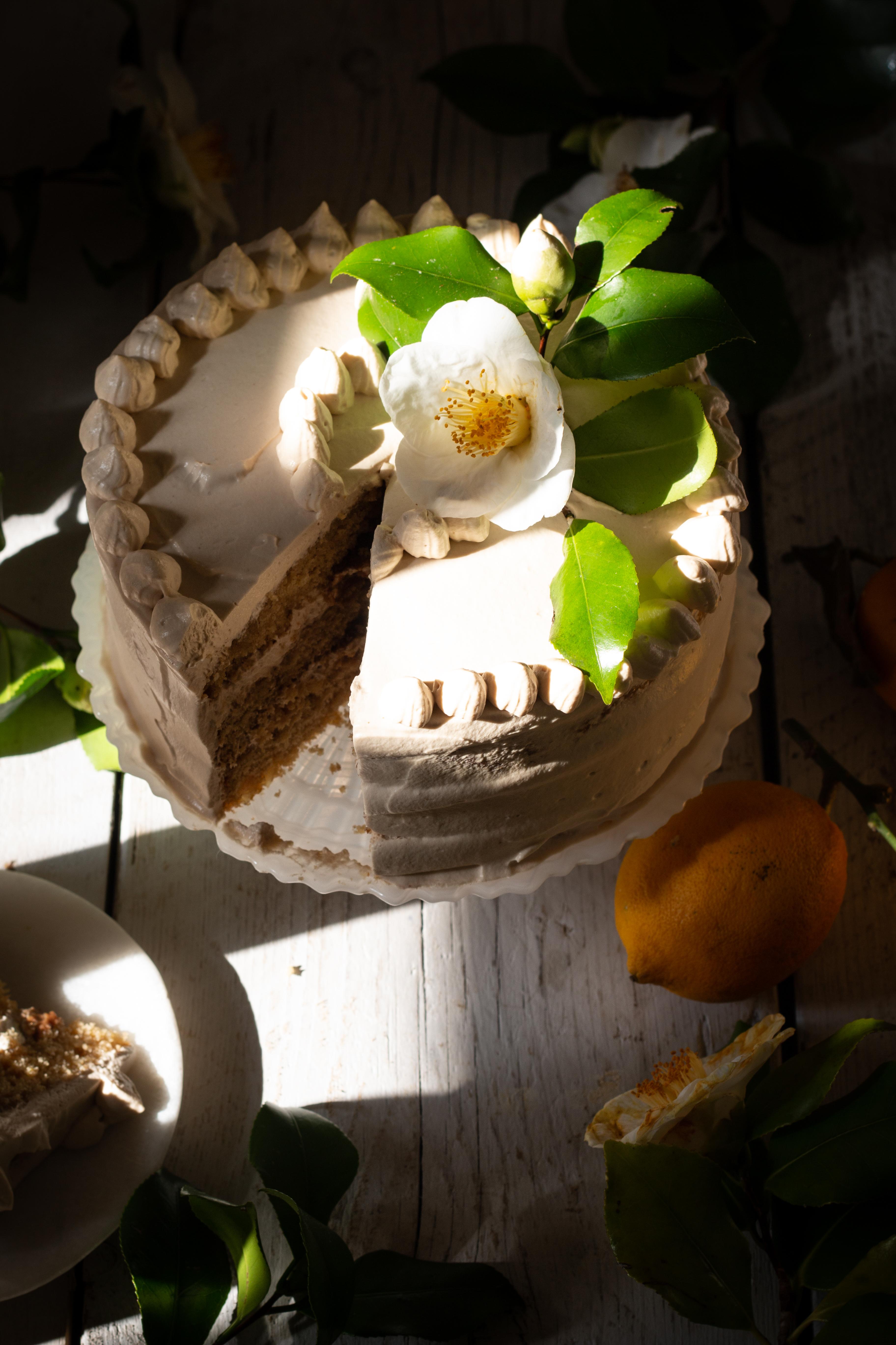 triple ginger lemon cake