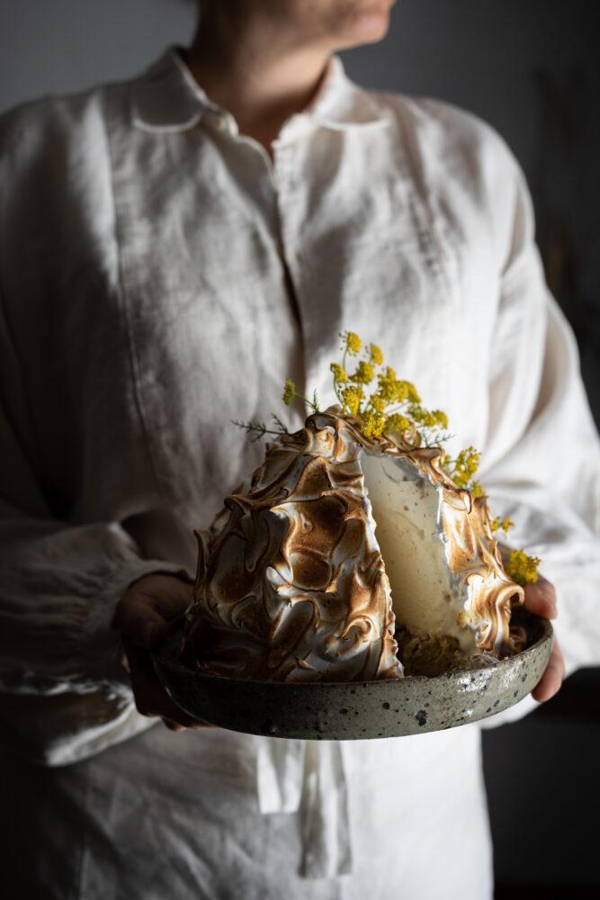 fennel ricotta baked alaska