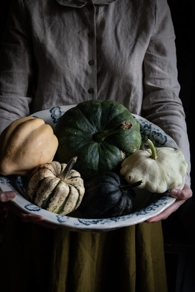 bowl of pumpkins