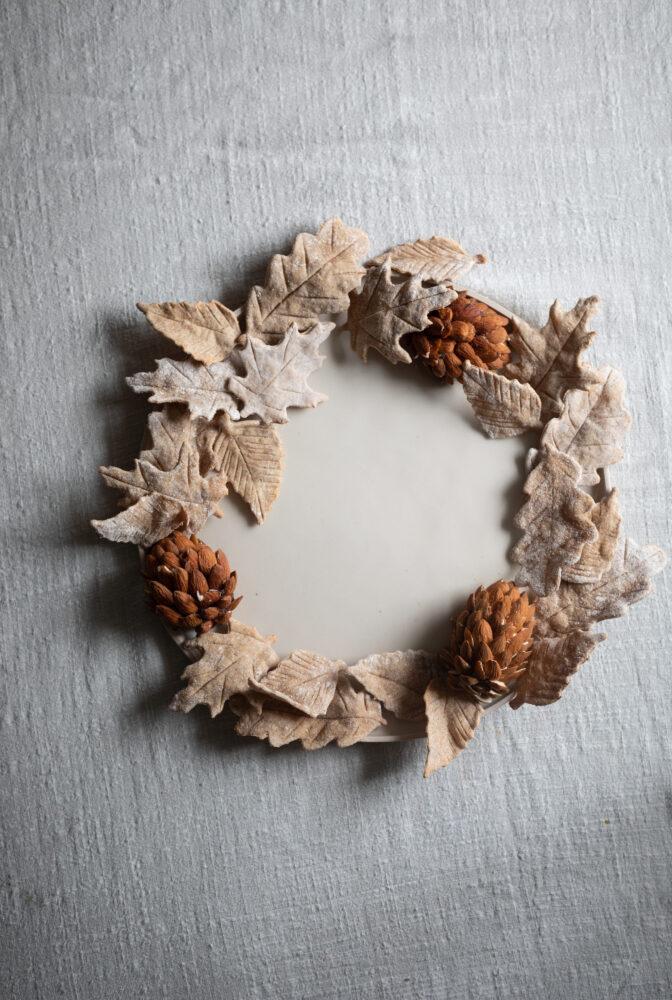 cheese board wreath