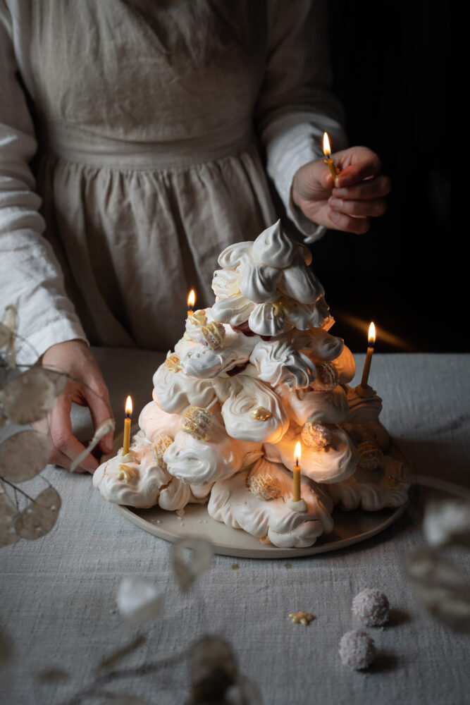 christmas tree meringue
