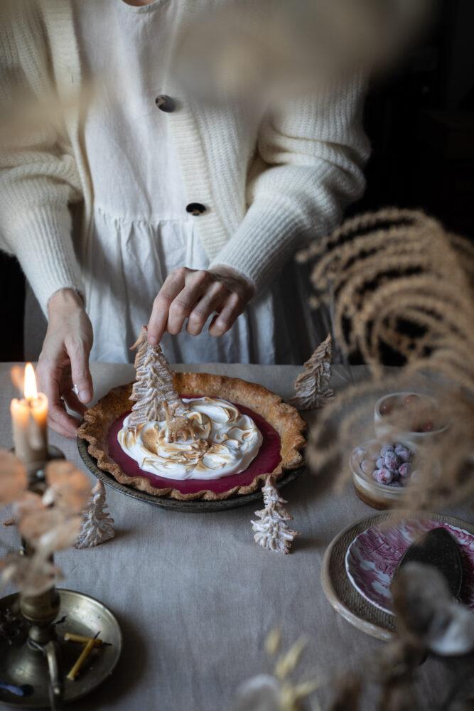 Christmas meringue pie