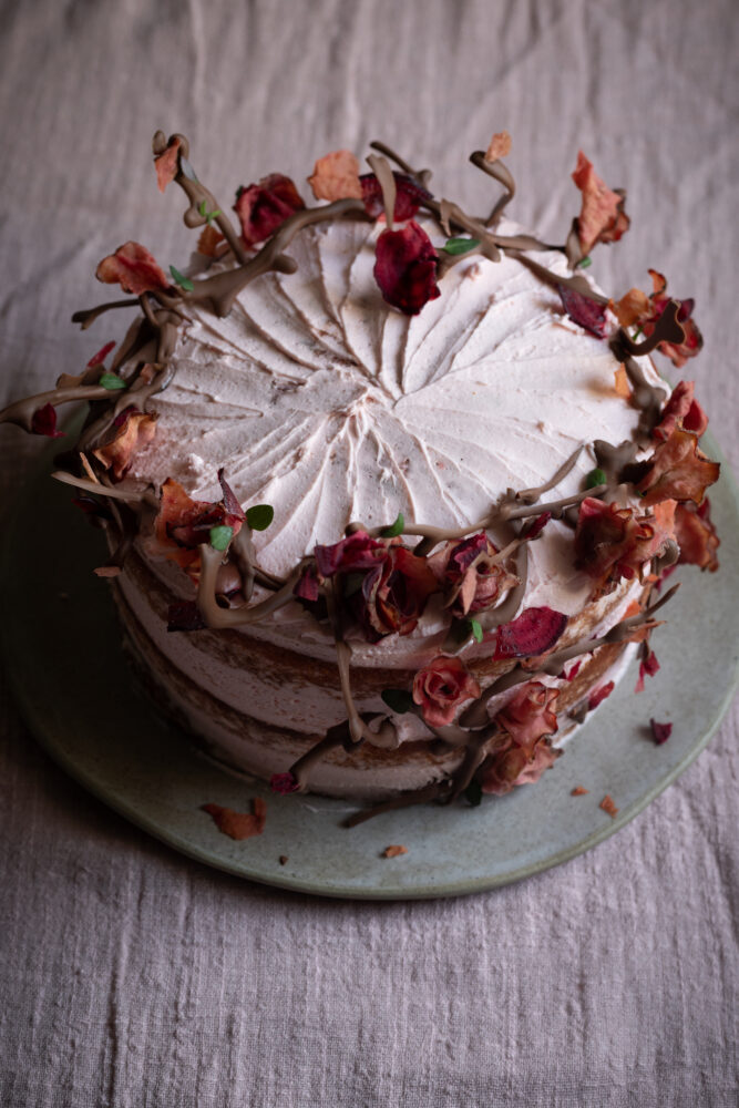 beetroot stem ginger and citrus cake