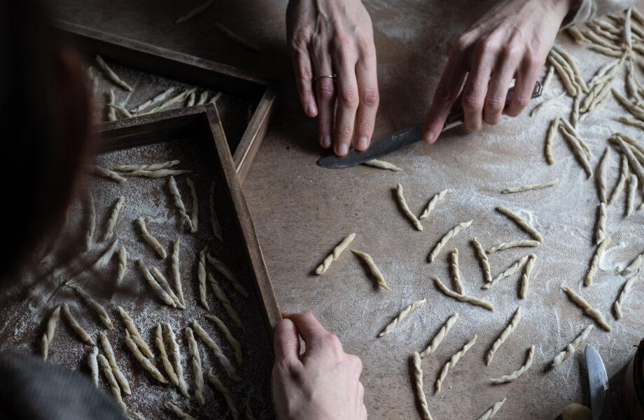 Semolina pasta – Homemade Trofie, 2 ingredients