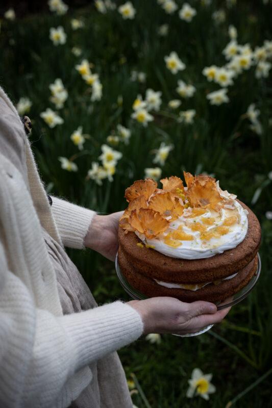 spring vegan pineapple cake