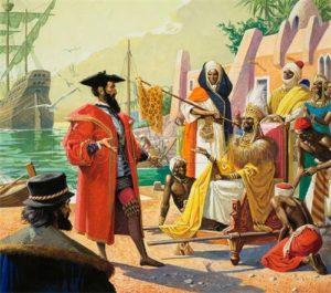 Portuguese Vascodagama to india king