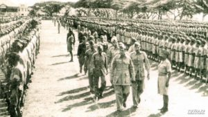 subhash chandra bose with National indian Army (INA)