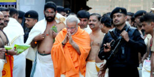 Modi in Padmanabhaswamy Temple