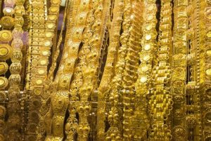 Long Golden Chain in Padmanabhaswamy Temple