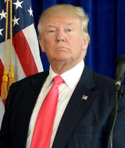 Donald Trump 45th President of United States of America