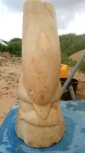 The marble dolphin found near Gaza.