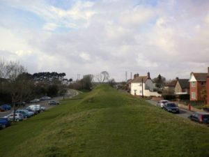 """Bloody Bank"" is the high point in the distance, on West Walls."