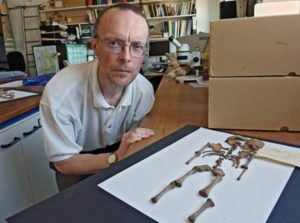 Dr Simon Mays, a skeletal biologist at English Heritage, has examined the Hambleden Roman infant bones.