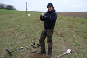 Robert Hemming Poulsen at the site of his discovery.